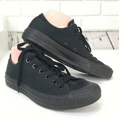 Converse Chuck Taylor Lo Top  Classic All Star Black Canvas 6.5 Mens 8.5 Womens