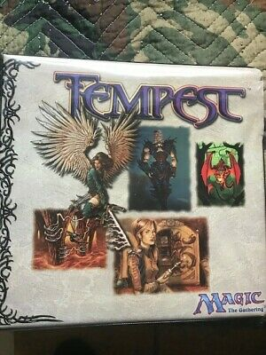MTG Magic the Gathering Ultra Pro 3-Ring Binder Tempest-Used Acceptable-w/pages