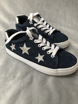 Bluezoo Girls Canvas Navy Shoe Size 13 UK