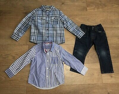 Boys bundle 2-3 years shirts jeans next boden fleece lined G98