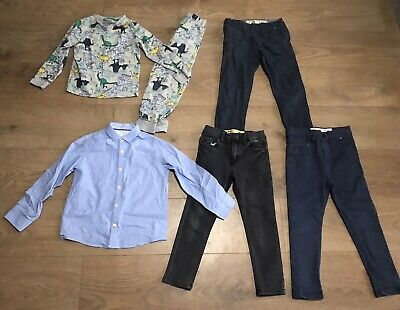 Boys bundle 5-6 years skinny jeans dinosaur pyjamas next shirt G100