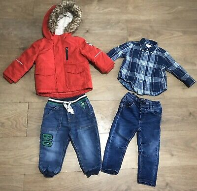 Baby boys bundle 12-18 months next jeans ralph lauren shirt G102 red coat