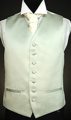 W461. Solid silver, satin finish waistcoat - wedding / dress / suit / party