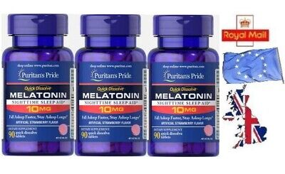 10MG x 270 Tablets Quick Melatonin Melatonina INSOMNIA SLEEPING PILLS- SENT