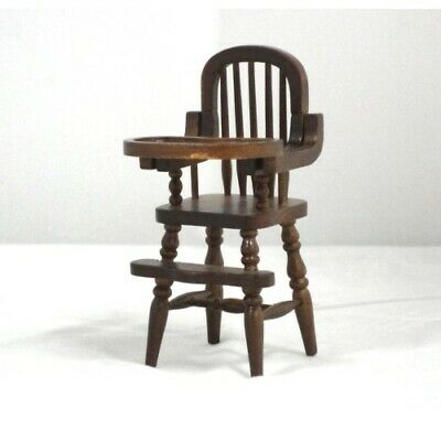Chair Windsor black walnut finish dollhouse  1//12 scale miniature CLA07813