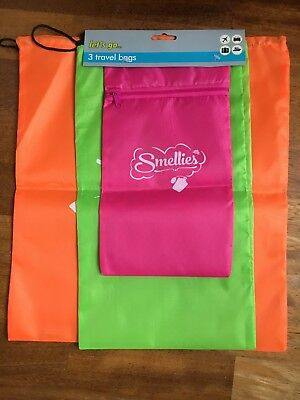 Holiday Toiletry Cosmetic 3 Pack Travel Bags x 2