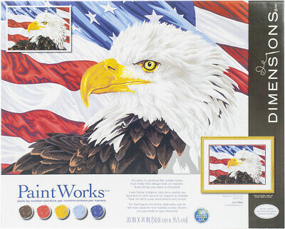 """Bald Eagle - Paint Works Paint By Number Kit 20""""X14"""""""