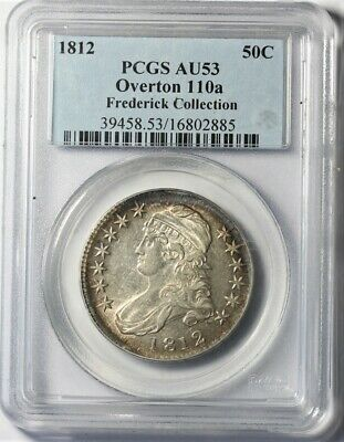 1812 Capped Bust Half Dollar PCGS AU53 Overton 110a Frederick Collection