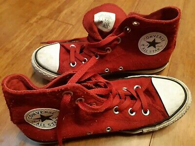 Converse Size 6 High Top Red Euro Size 39
