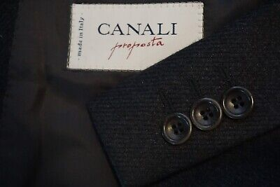 Canali Gray Cashmere Blend Sport Coat Jacket Sz 46R Made in Italy EXCELLENT
