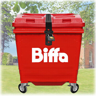 Biffa Euro Industrial Wheelie Bin Lid Strap Lock Easy Fit