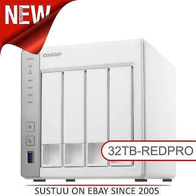 NEW! QNAP TS-431P2-1G 32TB (4x 8TB WD RED PRO) 4 Bay NAS Unit with 1GB RAM White