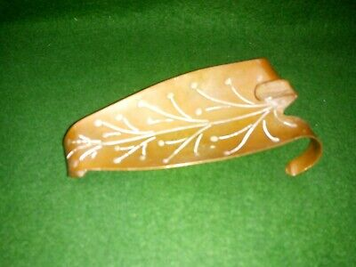 Vintage French Arts and Crafts Copper ash tray in the form of a leaf  - R Hamel