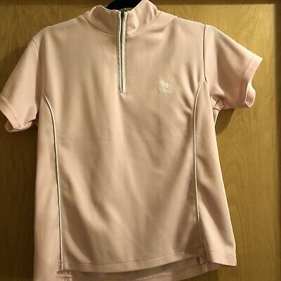 Pale Pink Girls Age 14-16 Gleneagles Mid Layer Golf Top