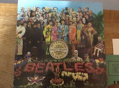 SGT PEPPERS LONELY HEARTS CLUB BAND The Beatles Record Album Vinyl 1967 Used