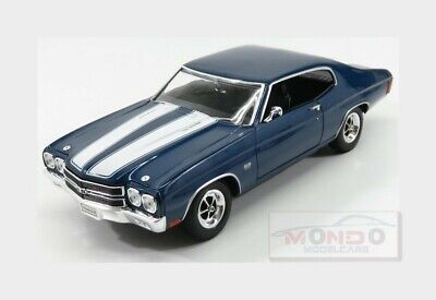 Chevrolet Chevelle Ss 454 Coupe 1970 Blue White WELLY 1:18 WE19855BL