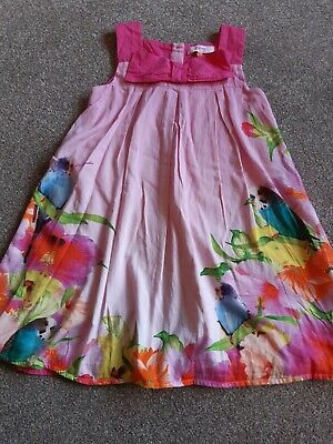 Gorgeous Ted Baker girls dress Age 5-6. Budgie design. Unusual