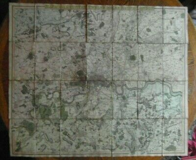 Antique Map of the Country Twelve Miles Round London Pub. C.Smith in 1823