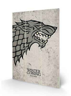 GAME OF THRONES - Wood Print 20x29.5 - Stark Sigil