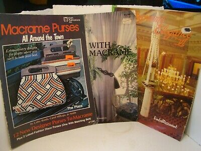 Set of 3 Macrame Craft Books