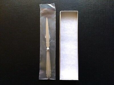 Reed & Barton sterling silver letter opener, 7.75in. New, plastic sealed w/ box