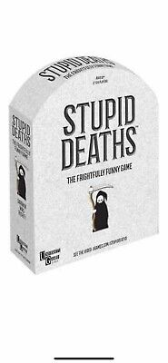 Stupid Deaths The Frightfully Funny Game NEW Family Fun Kids Teens Game