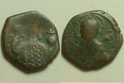 Rare ORIGINAL ancient BYZANTINE coin Alexius I Comnenus 1092 AD Christ cross