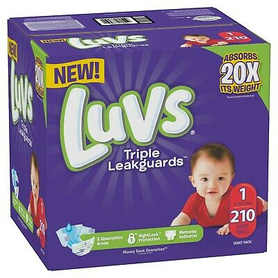 *NEW* LUVS Ultra Triple Leakguards Baby Diapers Size Newborn 1, 2, 3, 4, 5 and 6