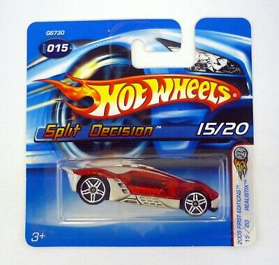 0916 2005 HOT WHEELS  /'/'FIRST EDITIONS/'/' #015 = SPLIT DECISION = RED /& SILVER