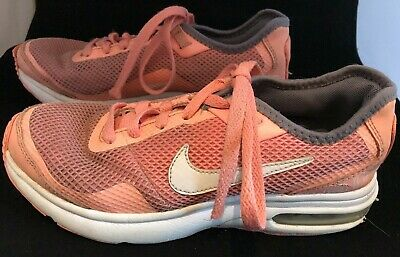 Little Girls Pink Nike Air Trainers Size 3 Eur 35.5 Pink Laces Soles White Tick