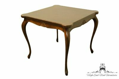 """High End Country French Provincial 34"""" Square Accent Game Table w. Pull Out C..."""