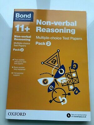 Bond 11 Plus Non-Verbal Reasoning Multiple Choice Test Papers (Pack 2)