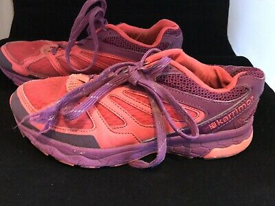 Girls Pink & Purple Karrimor Ride Trainers Size 3 Eur 36 Purple Laces Pink Soles