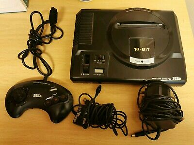 Sega Mega Drive 16 Bit Console - Tested - Includes all official wires