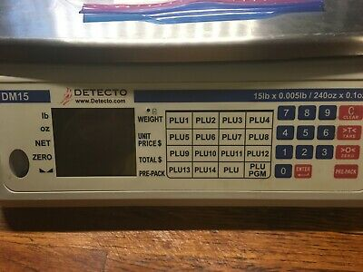 Cardinal Detecto DM15 15 lb. Digital Price Computing Scale