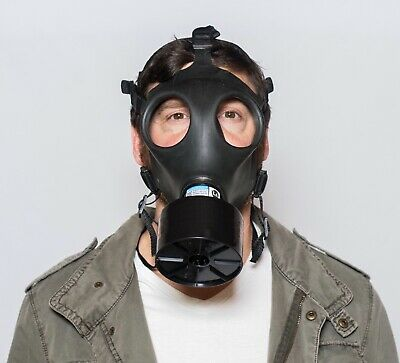 Respirator CBRN Military Gas Mask w/ Sealed 40mm Fr15 canister