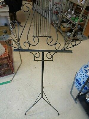 Music Stand - Wrough Iron with 2 Candle Holders