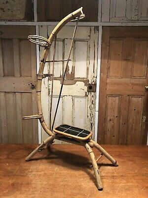 Vintage Bamboo Plant Pot Holder Plant Stand Mid Century
