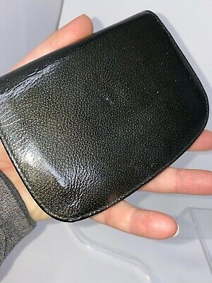 Neiman Marcus Green Patent Leather Bi Fold w/Snap Wallet Unisex - Made in Italy