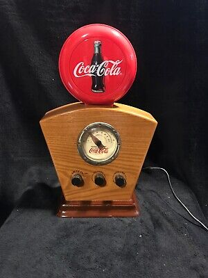 WORKS Coca Cola Radio AM / FM 1934 Antique Style Light Up Icon and Dials
