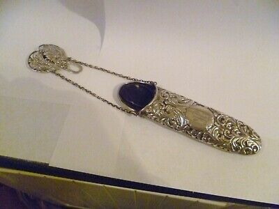 Antique Victorian Sterling Silver Chatelaine Lorgnette / Spectacle Case c1899
