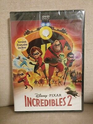NEW - INCREDIBLES 2 (DVD) Authentic Disney