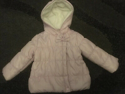 Girls Coat 3 Years Pink Hooded Puffer Jacket PETITS (B38)