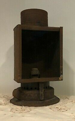Early 20th Century Antique Primitive Rustic Metal Tin Barn Lantern