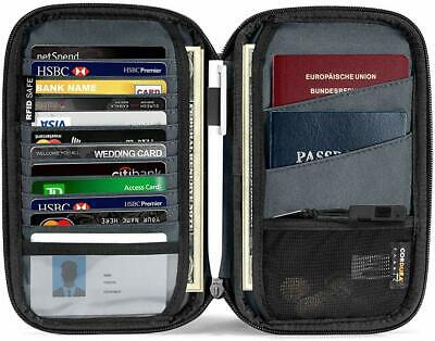 Passport Holder with a Sim Card Holder and Eject Pin RFID Blocking Travel Wallet