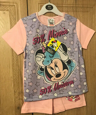 Girls Minnie Mouse Pyjamas Pjs Age 3-4 Years Birthday Easter Gift Present Summer