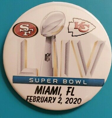 SUPER BOWL 54 (FIFTY-FOUR) LIV KANSAS CITY CHIEFS, SAN FRANCISCO 49ers- BUTTONS