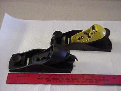2 Vintage Block Planes:  Millers Falls No.16, Stanley Two Tone, Complete