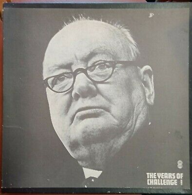 Years of Challenge Wartime Speeches of Sir Winston Churchill 3LP Records Box Set