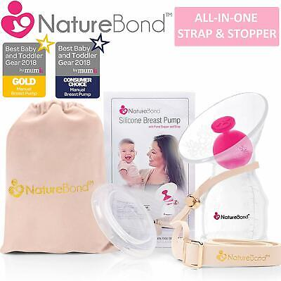 Silicone Breastfeeding Manual Breast Pump Milk Saver Nursing Pump FAST SHIPPING